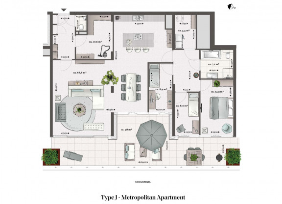 Type J - Metropolitan apartment