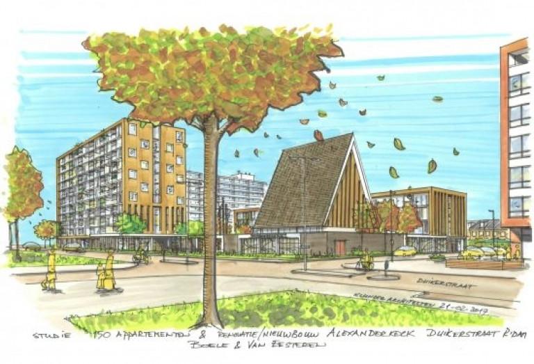 Alexanderkerk nieuwbouw rotterdam for Nieuwbouw rotterdam huur