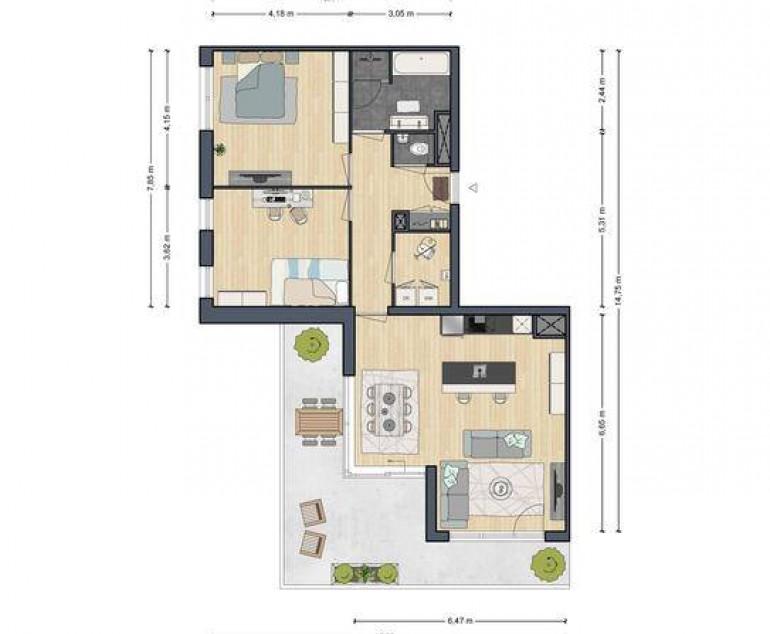 3-Kamer appartement type Penthouse | Banneplein blok 1 | Nieuwbouw ...
