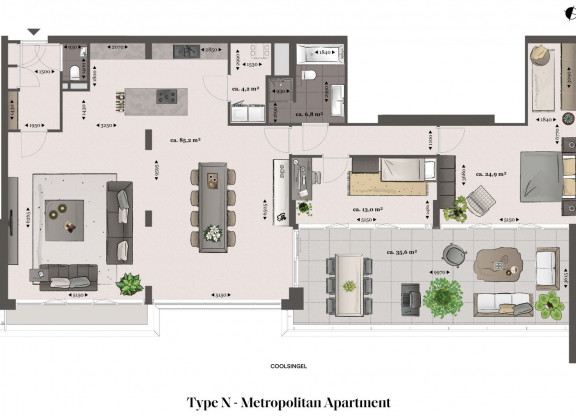 Type N - Metropolitan apartment